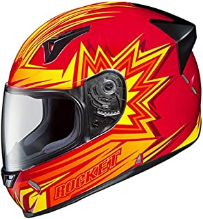 Joe Rocket Blaster R1000X Full Face Motorcycle Helmet (Red/Yellow/Orange, X-Large)