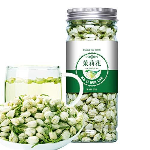 Chino Herbal Té Flor Fruta Té Rosa Té Dorado Seda Crisantemo Embotellado Nuevo Perfumado Té Cuidado de la salud Flores Té Comida verde saludable (30g de jazmín)