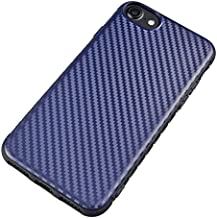 LOJIOLIVES Carbon Fibre mobile phone case dustproof Apple case, iphone 6 case iphone 7 case iphone 8 case (4.7inch iphone6 7 8 blue)