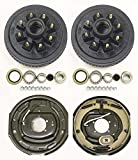 LIBRA Trailer 8 on 6.5' B.C. Hub Drum Kits with 12'x2' Electric Brakes for 7000 Lbs Axle Heavy Duty Studs...