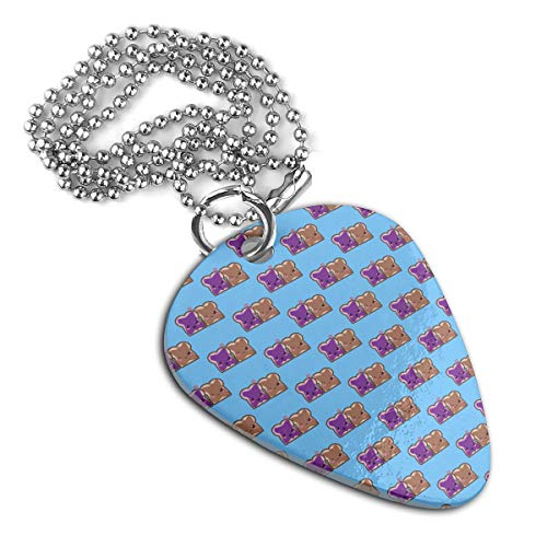 Chion Peanut Butter and Jelly Guitar Pick Pendant Necklace Pet Card Keychain