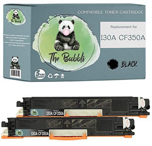 The Bubbli Originale | 130A CF350A Toner Compatibile per HP Color LaserJet Pro MFP M177fw M176n (NERO, 2 KIT)