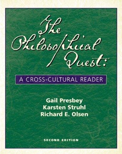 Philosophical Quest A Cross-Cultural Reader