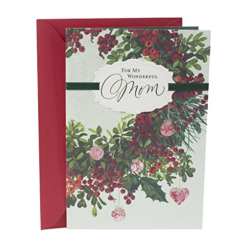 Hallmark Christmas Card for Mom (Floral Wreath)