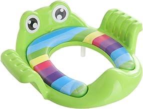 Kinderbijgestaan toiletbril potje training toiletbril met afneembaar kussen voor jongens en meisjes groen
