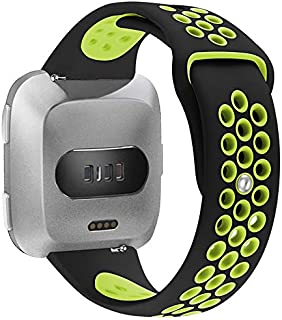 ieLive For Fitbit Versa Silicone Sport Bands, Soft Silicone Replacement Strap Wristband