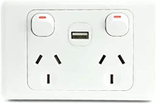 Power Point with USB Socket Outlet GPO Australian SAA Approval