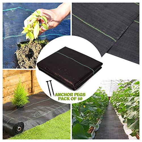 STTHOME Toile Anti-Mauvaises Herbes Bache Anti Mauvaises Herbes Anti-UV Molleton De Jardin Géotextile Gravier Tissu Perméable Résistant À La Déchirure 1MX10M, 2MX5M (Size : 1MX10M)