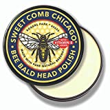 Bee Bald Head Polish: Mens Aftershave Polish for Men, Waterproof Moisturizer for Bald Heads, Great for Father's Day, Christmas, Holiday, 4 OZ.