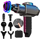 Massage Gun Deep Tissue,Percussion Electric Massage Gun Portable Handheld Massager with Quiet Motor for athlets,Relieves Muscle Tension with Adjustable Speeds 6 Massage Heads