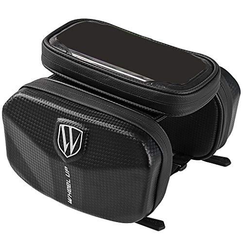 HomeDecTime Mountain Road Frame Bag Top Tube Pack Soporte para Teléfono de Bicicleta Impermeable