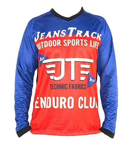 Jeanstrack Enduro Extr Camiseta técnica MTB, Rojo y Azul, M