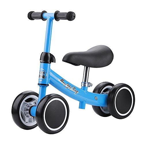 Balance Training Mini Bike Scooter Walker Scooters para Bebés De 1-2 Años Sin Pedal Bicicleta De Entrenamiento Deportivo (Azul)