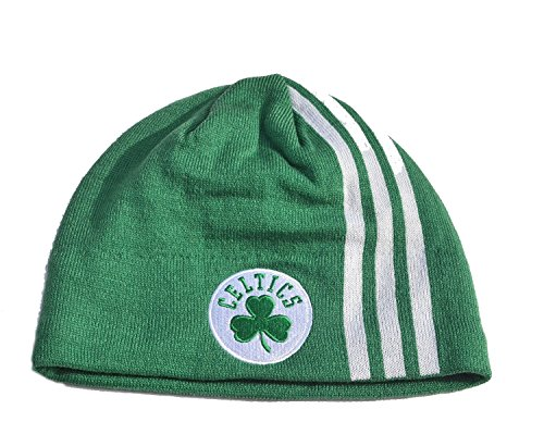 NBA Boston Celtics Green Stripe Skull Cap Cuffless Beanie Winter Hat