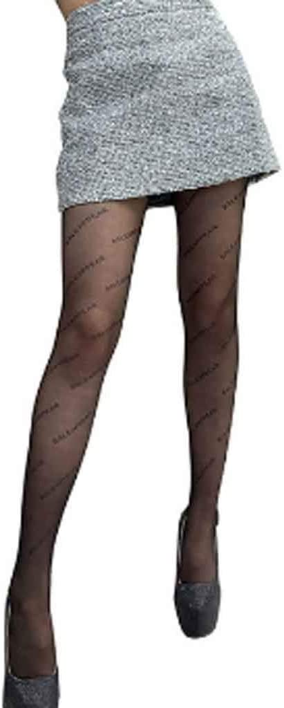GPPZM Sexy Letter Stockings Women Mesh Tights Socks Stocking Pantyhose Tights Fishnet Ladies Black Long Stockings Over The Knee Sock (Color : Nude)