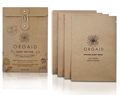 ORGAID Organic Sheet Mask 4-packs (Anti-aging & Moisturizing)