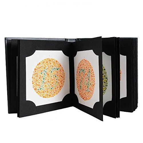 Ishihara Carnet de tests pour déficience de couleur 38 plaques édition 2018 avec manuel de l'utilisateur et occlusion d'un œil