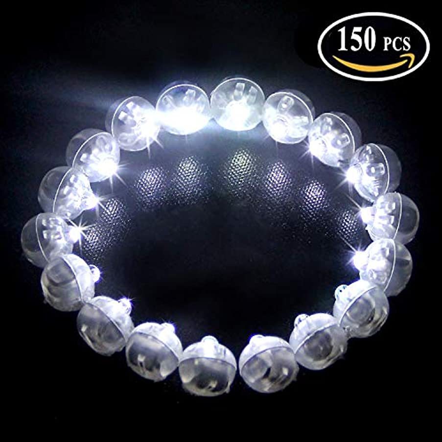 150pcs/lot 150 X White Color Round Led Flash Ball Lamp Balloon Light Long Standby time for Paper Lantern Balloon Light Party Wedding Decoration