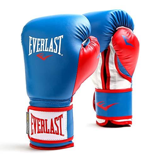 Everlast Powerlock Herren-Handschuhe mit Klettverschluss, 473 g, blau/rot