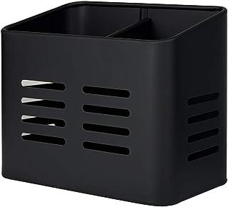 Boîte à couverts à 2 compartiments en métal, égouttoir à couverts à poser 9 x 16 x 13,5 cm, organiseur d'ustensiles vertic...