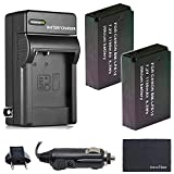 Xtech LP-E12 Battery (2-Pack) and Charger for Canon EOS-M, EOS M2, EOS M10, EOS M50, EOS M50 II, EOS M100, EOS M200, SX70 HS, Rebel SL1 DSLR and Digital Camera