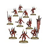 Games Workshop 10 Figuras Daemons of Khorne Bloodlets Warhammer 40k, Miniaturas Citadel (99129915049)