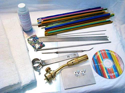 Devardi Glass Lampworking, Blowing, Beadmaking COE 104 Beginner Starter Kit - Basic