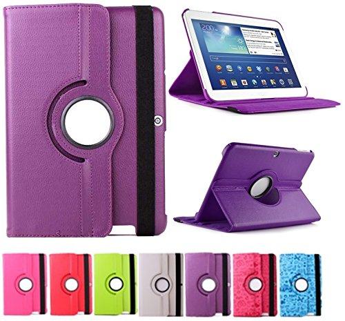 Funda para Tablet Bq Edison 3 10.1' Quad Core. Giratoria 360º Color Morado