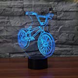 DFDLNL Bicicleta de montaña Lampada Led Luz de Noche 3D Ambiente Colorido Control táctil Visión Lámpara estéreo Lámpara de acrílico 3D como Grandes Regalos