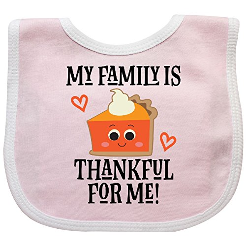 Inktastic - Thanksgiving Outfit Thankful Family Baby Bib Pink/White 2da91