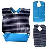 XEMQENER Bavoirs pour personnes âgées et adultes handicapées en tissu de...