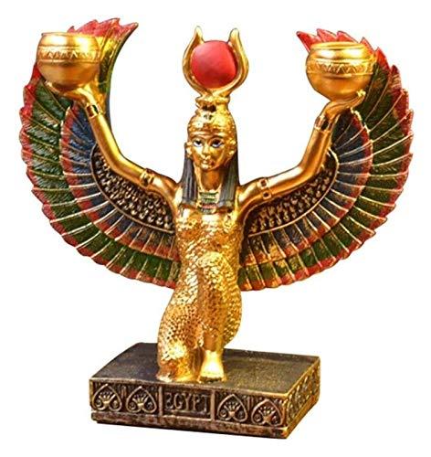 WQQLQX Statue ISIS Skulptur auf dem Boden Gott Schönheit Gott Statue Handwerk Modell Desktop Ornamente Startseite Kirche Dekoration Zubehör Charakter Figuren Skulpturen