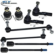 DLZ 8 Pcs Front Suspension Kit-2 Lower Ball Joint 2 Outer 2 Inner Tie Rod End 2 Sway Bar Compatible with Ford Taurus 1996-2007 Ford Taurus, Mercury Sable 1996-2005 K8687 EV398 K8734 K8735 ES3349RL