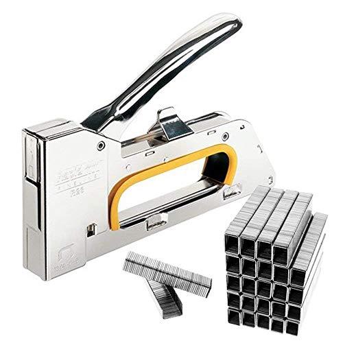 JJOnlineStore, graffatrice in acciaio da 4/6/8 mm con 2500 punti metallici inclusi, ideale per fai da te e per fissare tappezzeria