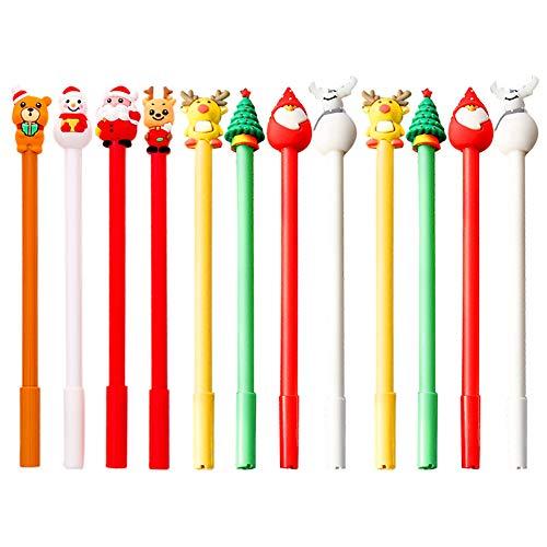Bolígrafo de tinta de gel 12 Navidad negro Bolígrafos de Gel Pluma de Gel Papelería Bolígrafos de Tinta Gel Suministros Escuela de la Oficina 0.5mm Fineliner Pen Sketch Sketch Marcadores de dibujo