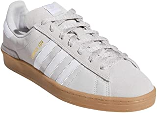 adidas Men's Campus Adv Skate Shoes Grey One/Cloud White/Gold Metallic