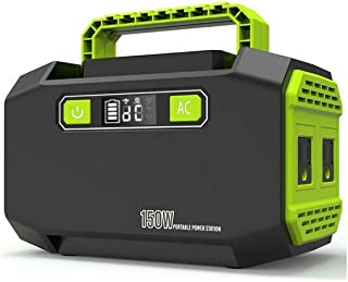150W Solar Power Station, Emergency Generator with DC/AC Inverter USB 45000Mah 3XDC and 2 USB Output for Camping Emergency...