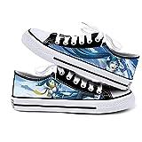 NIEWEI-YI Zapatos De Lona Anime Hatsune Miku Zapatillas De Deporte para Hombre Cosplay Zapatos De Viaje Al Aire Libre Zapatos Planos,43 EU