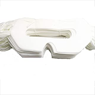100 Pack White Disposable VR Face Cover Mask Sanitary VR Mask Pads for Universal Virtual Reality Headset