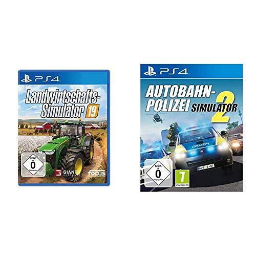 Landwirtschafts-Simulator 19 PS4 & Autobahn-Polizei Simulator 2 - [PlayStation 4]