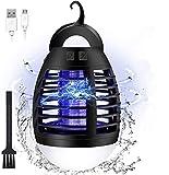 Elfeland Lampe Anti Moustique LED 3 en 1 Lampe Camping Étanche IP67 Tueur de Moustiques 90m² Efficace Tue Mouche Electrique UV USB Rechargeable avec 2200mAh Batterie pour Exterieur Interieur