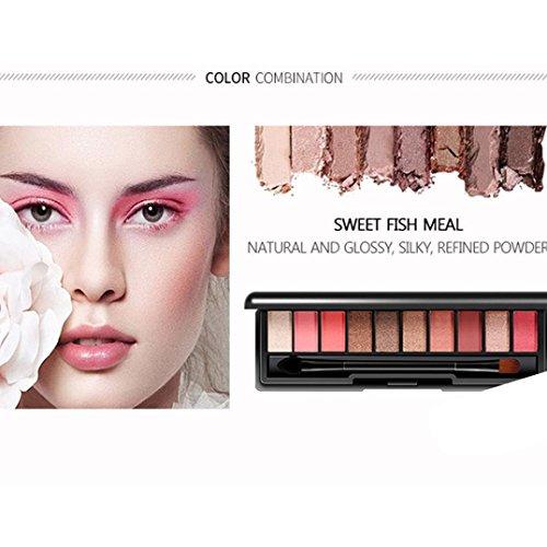 Coloré(TM) Palettes de maquillage 10 couleurs cosmétique poudre fard à paupières palette maquillage set mat disponible (D)