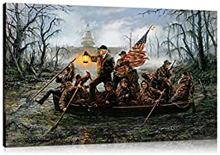 Artwu Donald Trump,Crossing,The Swamp Wall Art Home Wall Decorations for Bedroom Living Room Oil Paintings Canvas Prints 3 sizes-716 (24x36inch(Framed))
