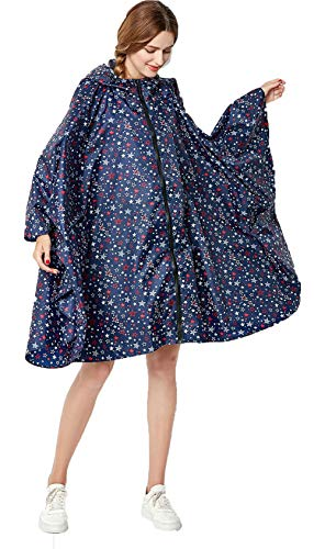 NUUR - Poncho impermeable para mujer - con capucha