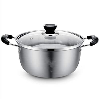 Stainless Steel Double-layer Thickening Cooking Pot Double Bottom Non-stick Multi-purpose