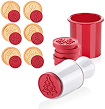 Christmas Silicone Cookie Stamps Set, Fashionclubs 6pcs Hand Press Cookie Cutter Stamper Set Pastry Molds, DIY Baking Decoration Tools for Fondant Biscuit Play Doh Arts
