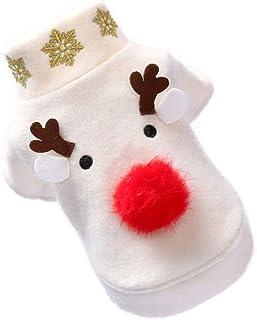 UKCOCO Hondenkleding - Eland Patroon Kerst Huisdier Kostuums Ademende Hondenkleding Grappige Hondenkostuums Kleding Voor H...