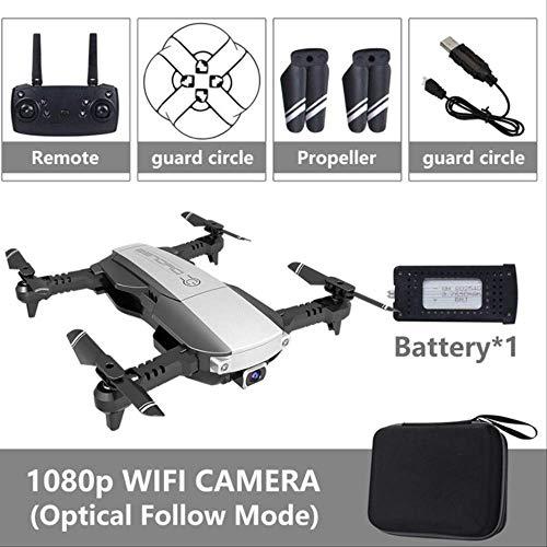 xiaozhu1218 RC Mini Quadcopter Drones 4k con Cámara HD Drone De Flujo Óptico Profesional WiFi FPV Quadrocopter con Cámara Drone De Bolsillo Dron Bolso Negro 1080P