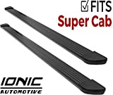 Ionic Gladiator Black Running Boards (Fits) 2015-2018 Ford F150 SuperCab