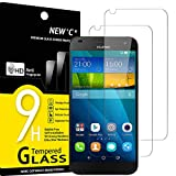 NEW'C Lot de 2, Verre Trempé Compatible avec Huawei Ascend G7, Film Protection écran - Anti...